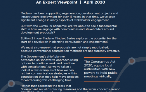 Navigating COVID-19: A revolution in planning virtual consultation and engagement?